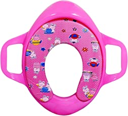 Ineffable Potty Trainer Seat Potty Colourful Padded Soft Durable Full Cushion Assorted Children Poop Seat Pink