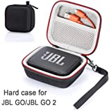 Tasche für JBL Go/JBL GO 2, Hartschalen-Reisetasche für JBL GO/JBL GO 2 Mobiler Bluetooth-Lautsprecher (Nur Gehäuse, Lautsprecher und Zubehör Sind Nicht im Lieferumfang Enthalten) - Schwarz