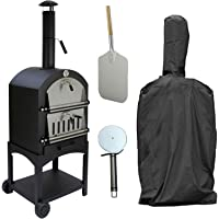 KuKoo Outdoor Pizza Oven BBQ/Accessories Rain Cover, Pizza Peel & Cutter/Garden Outside Barbecues Smoker Charcoal Fired Bread Meat Grill Gourmet Maker