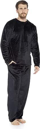 CityComfort Mens Pyjamas Set | Super Soft Fleece Mens 2 Piece Pyjamas Loungewear Tracksuit | Nightwear in Navy, Black, Grey Fleece Top and Long PJ Jogging Bottoms | Gifts for Men