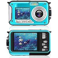 Underwater Camera for Snorkeling, Waterproof 2.7K 24MP Digital Camera, HD Rechargeable…