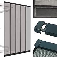 Power-Preise24 Moustiquaire Rideau à lamelles pour Portes 125 x 220 cm avec Profil en Aluminium - Rideau moustiquaire…