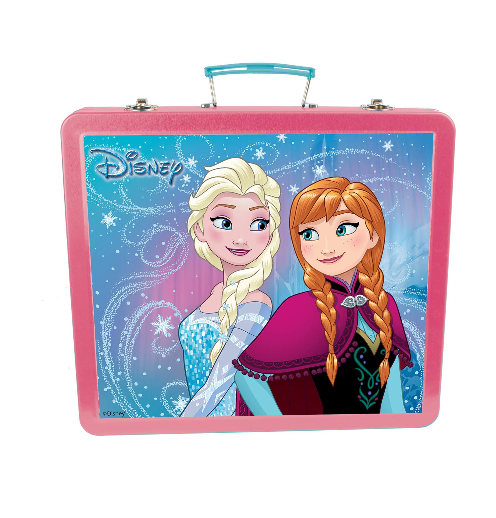 Disney Frozen-Mi Estuche metalico de Escritura, 60 Piezas (CFRO132), (DARPEJE 1)