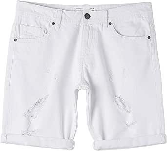 TERRANOVA Shorts 5 Tasche con Strappi Uomo