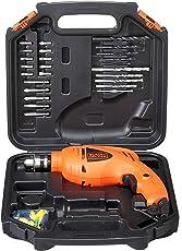 BLACK+DECKER HD400KA50 Impact Drill Kit (Pack of 50), Orange