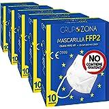 50 uds. mascarillas FFP2 NR homologadas CE 0598, filtrado de 5 capas - GrupoZona - Mascarilla ffp2 protección - Envío rápido