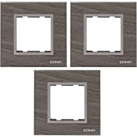 CONA 10502 Status Glassic 2 Modular Plate, Oak Wood - Pack of 3|2 Module Switch Plates|Cover Plate|2M Polycarbonate Switch Frame
