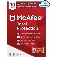 McAfee Total Protection 2020 | 10 Geräte | 1 Jahr| Antivirus Software, Virenschutz-Programm, Passwort Manager, Mobile…