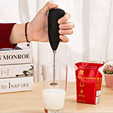 Hongxin Classic Sleek Design Hand Blender for Cafe Latte, Espresso, Cappuccino, Lassi, Salad Dressing, 8.5 x 2 Inches