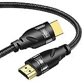 ConnBull 8K HDMI Kabel 2.1 Nylon Stöd 48Gbps 8K@60Hz 4K@120Hz 3m