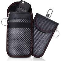 Lanpard 2 pezzi mini RFID borsa Faraday, Mini borsa per blocco segnale chiave auto,Segnale bloccato al 100% Blocca i…