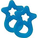 Dentistar® Baby Beißstern - 2er Set Beißring - Zahnungshilfe und Greifling - extra weich und flexibel - BPA frei - ab 3 Monaten - Made in Germany - Blau