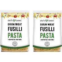 Chef's Basket Durum Wheat Fusilli Pasta, 500g (Pack of 2)