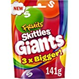 Skittles Giants, Chewy Fruit Sweets Pouch, 141 g