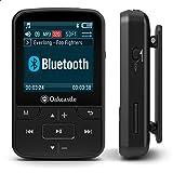 Oakcastle MP100 Reproductor MP3 8GB con Ranura Micro SD, Bluetooth, Inalámbrico, Batería Larga Duración para Uso Exterior, De