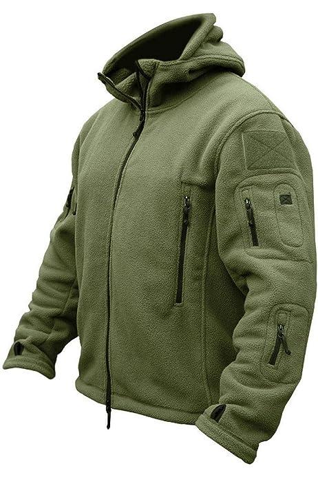 Mens Army Combat Military Hooded Hoodie Sweat Shirt Feece