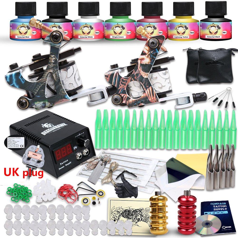 Professional great beginner tattoo kit 2 machine guns usa for Tattoo kit ebay