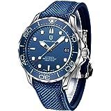 Pagani Design Original Seamaster Reloj para Hombre, Pulsera de Acero Inoxidable con Corona de Rosca y Resistente al Agua hast