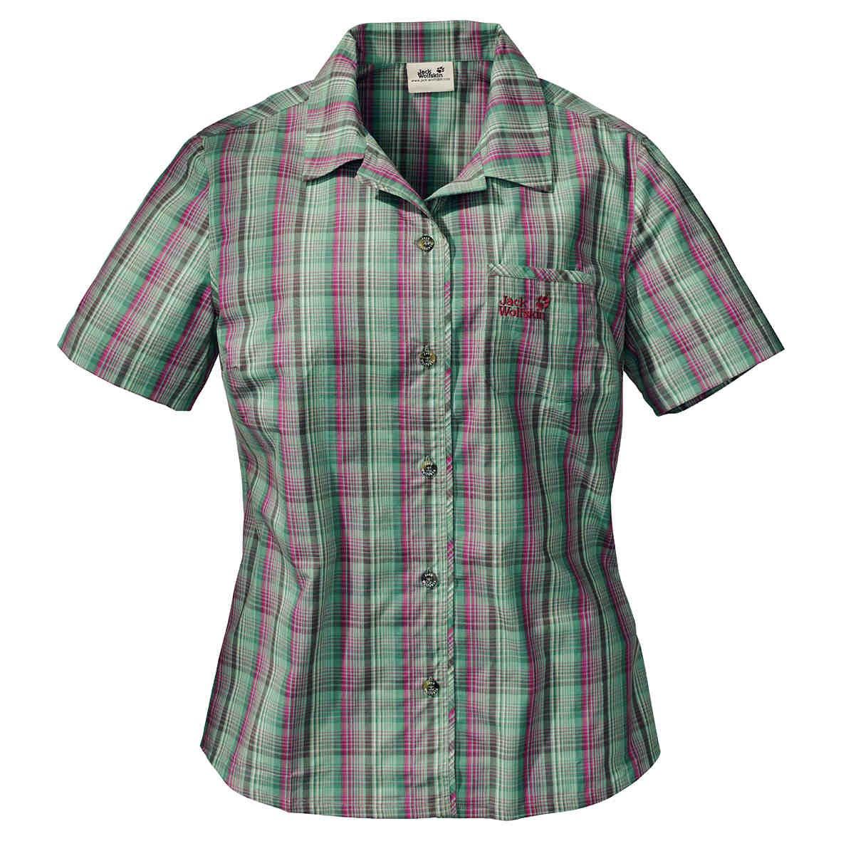 Jack Wolfskin–Maglietta Camicia da donna Hot Chili. Biowolle., Donna, eucalipto, X-Small