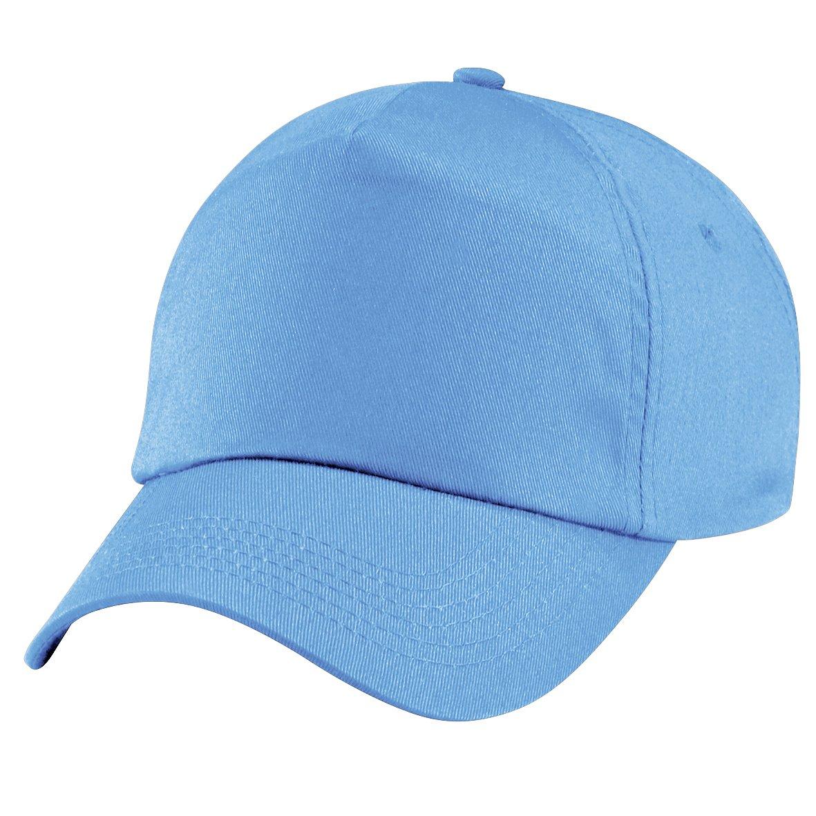Beechfield - Cappellino Tinta Unita 100% Cotone - Bambino (Taglia unica) (Cielo)