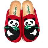 BioNatura 12 Panda Imb, Ciabatte Donna Anatomiche in Feltro Naturale di Lana