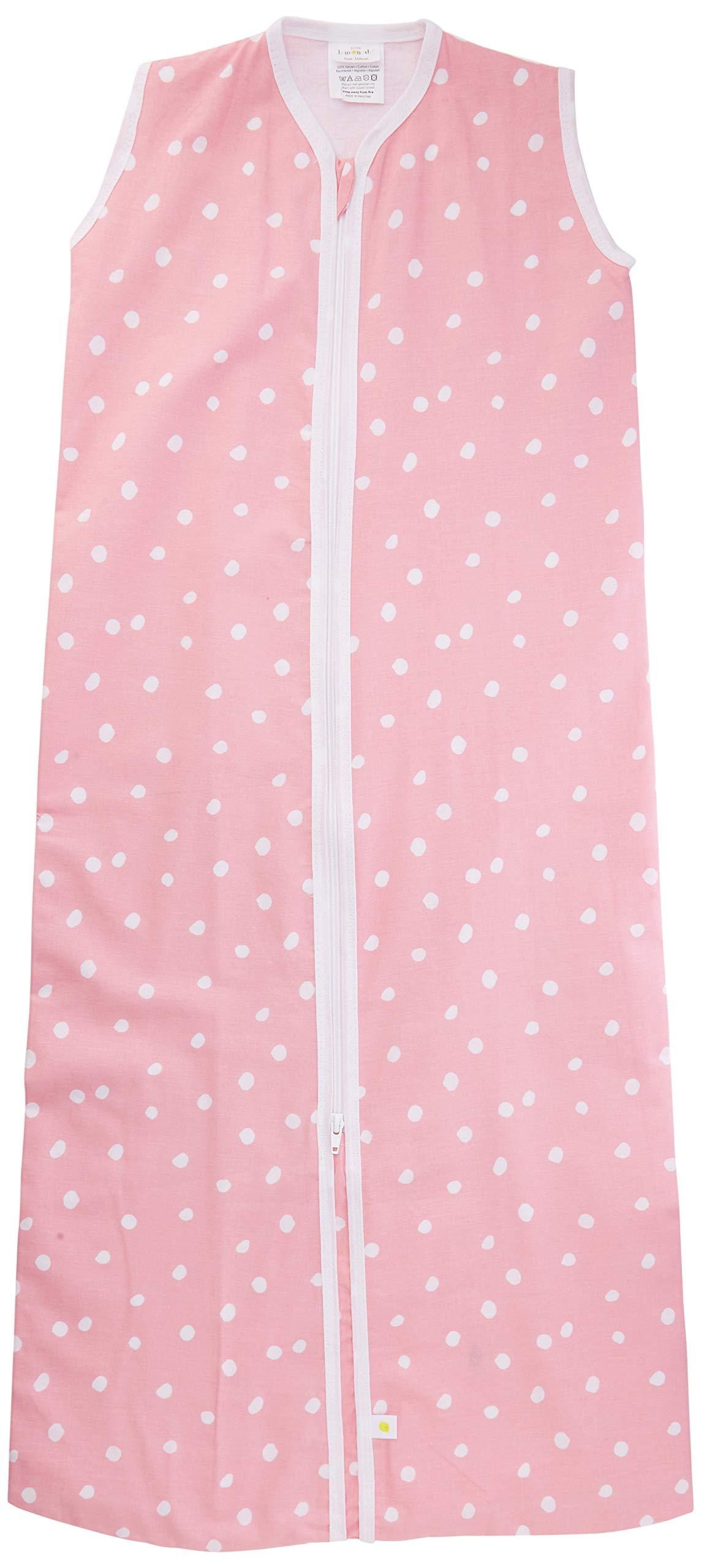 Little Lemonade – Saco de dormir para verano (110 cm), diseño de lunares, color rosa y rosa