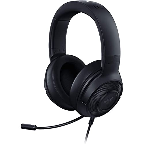 Razer Kraken X 7.1 Virtual Surround Sound Cuffie per il Gaming con Compatibilità Multipiattaforma, Jack audio da 3,5 mm.