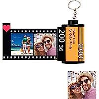 Schlüsselanhänger Personalisiert mit Foto X 10 & Text, Benutzerdefinierte Kamera Filmrolle Schlüsselbund Fotoalbum…