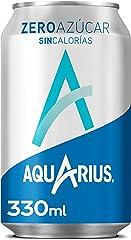 Aquarius Zero Azúcar Limón - Bebida funcional con sales minerales, sin azúcar - lata 330 ml