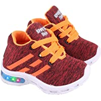 SMARTOTS Kids Casual Multicolour Light Laces Shoes for Baby Boys/Girls Age 15 Months to 4 Years L-9 Series