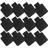 Portapenne Autoadesivo con Anello Elastico Autoadesivo 12 Pezzi Pelle Nera Artificiale Portapenne Autoadesivo per Notebook, T