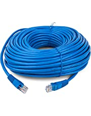 ANDTRONICS CAT-6 Snagless Network RJ45 Ethernet Patch LAN Cable CAT6-30M / 90 ft - Blue