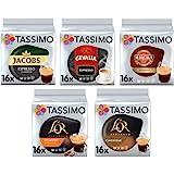 Tassimo Café Espresso Selección - Jacobs Espresso Classico/Gevalia Espresso/Marcilla Espresso/L'OR Espresso Delicious 16/L'OR