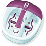 Beurer FB 35 fotbad med vibrations- och bubbelmassage för dina fötter, 41 x 38 x 17 cm