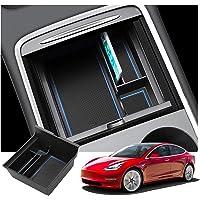 RUIYA Tesla Model 3 2021+ Armlehne Aufbewahrungsbox Mittelkonsole Organizer mit Antirutschmatten Angepasst Auto Zubehör…
