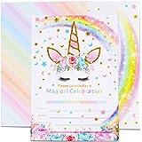 AMZTM Cartes d'Invitation avec Enveloppes pour Baby Shower Anniversaire Fille Enfant Décorations et Accessoires de Fêtes de L