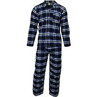 Mens Cotton Flannel/Brush Cotton PJ Pyjama Set PJ's Pyjamas Sizes S-4XL