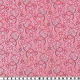 Spitze, floral, rosa/silber, 125 cm breit, Meterware