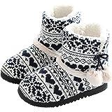 AONEGOLD Pantofole da Casa Morbido Antiscivolo Peluche Autunno Inverno per Donna/Uomo