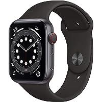 Novità Apple Watch Series 6 (GPS + Cellular, 44 mm) Cassa in alluminio grigio siderale con Cinturino Sport nero