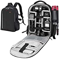 ESDDI Kamera Rucksack Wasserdicht Stoßfest Mit Gepolsterten Spezialeinteilungen für Objektive, Laptop, Stativhalter und…