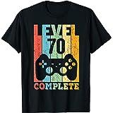 70 Ans Anniversaire Homme Femme Cadeau Déco Humour Level 70 T-Shirt