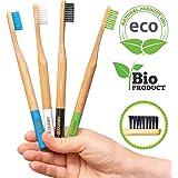 Brosse a dent bambou. Bambou Brosse á dent biodegradable, écologique, naturelle, organique. Brosse a dent bambou souple…