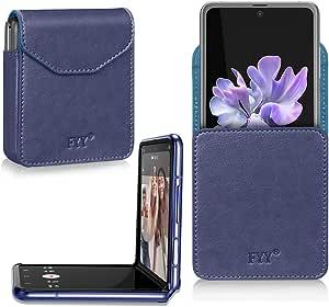 Fyy Hülle Für Samsung Galaxy Z Flip Pu Leder Elektronik