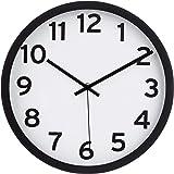 Amazon Basics 30.5 Numbered Wall Clock, Black