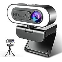 Webcam 1080P Full HD con Microfono, NIYPS Webcam per PC con Luce ad Anello e Treppiede Web Cam USB 2.0 /3.0 Laptop,Fisso…