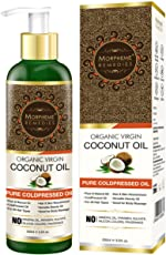 Morpheme Remedies Pure Cold Pressed Organic Virgin Coconut Oil for Hair and Skin, 200ml