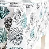 JameStyle26 Nappe de table lavable Motif Oxford Plusieurs tailles et motifs Cuisine et salon Lavable Feuilles Fleurs Motif co