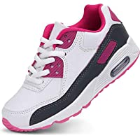Daclay Kids Shoes Boys Girls Sports Soft Soled Running Elastic Cushion Cool Sneakers