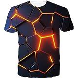 SunFocus Camiseta para Hombre Verano 3D Divertido gráfico Manga Corta Cuello Redondo Ajuste Informal Camisetas Delgadas Tops